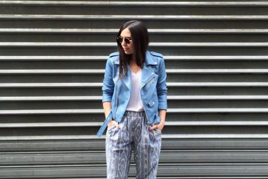 Le look blogueuse de la semaine : Margaux Slv voit la vie en bleu