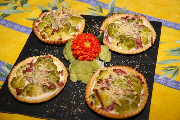 Tartelettes légères au chou fleur vert