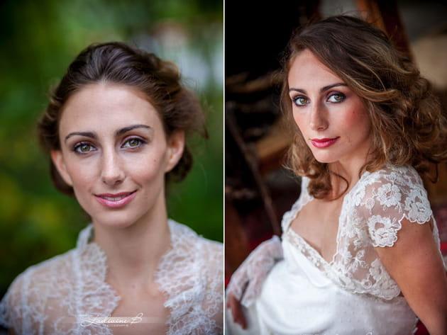 La mise en beauté de la mariée