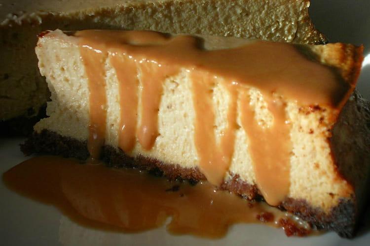 Cheesecake vanille, sauce caramel