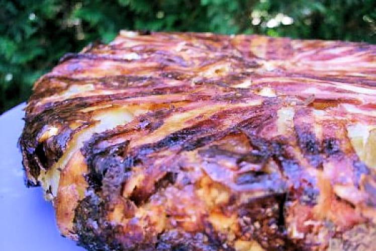 Gâteau de pommes de terre en habit croustillant
