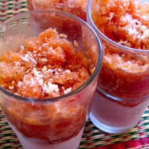 granité de tomates au basilic