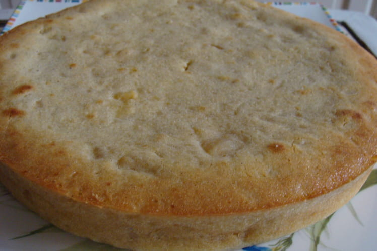 Gâteau moelleux à la compote de pommes