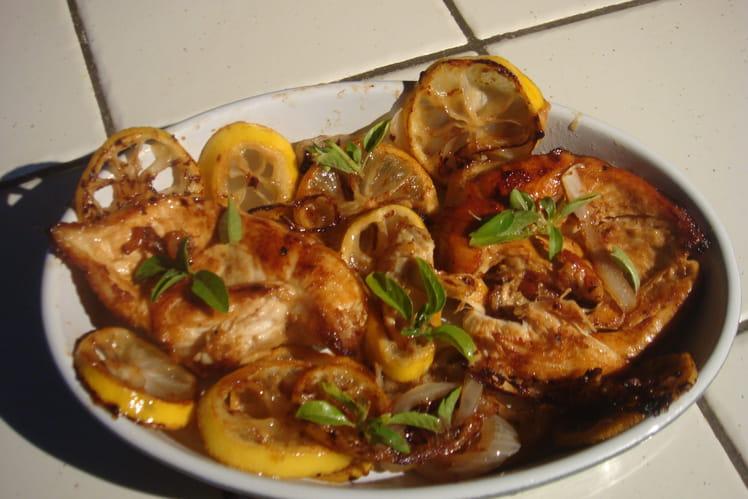 Recette de Blanc de poulet au citron