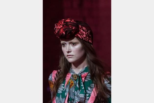 Le turban du défilé Gucci
