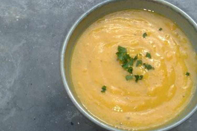 Soupe de carotte parfumée