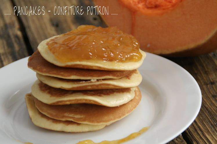 Pancakes et confiture de potiron