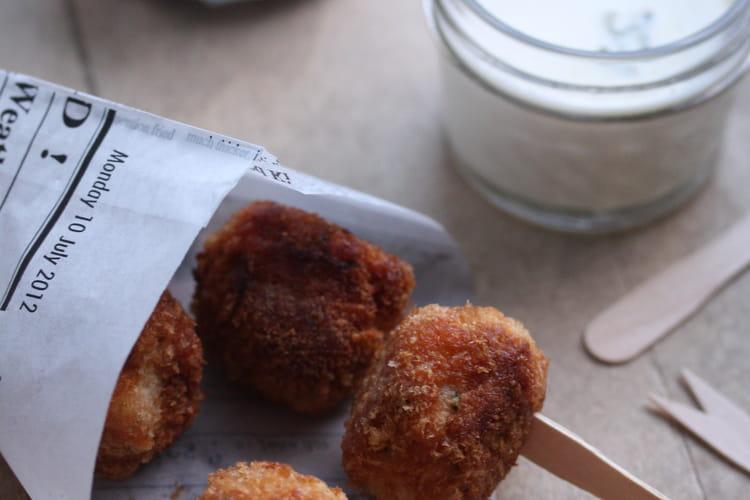 Cromesquis de poulet au Bresse Bleu