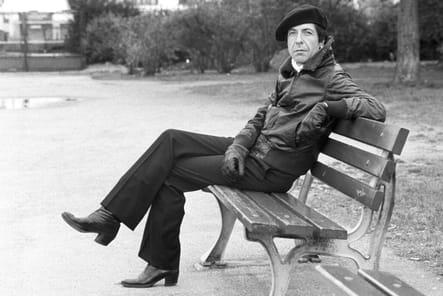 Leonard Cohen photographié à Francfort en avril 1976