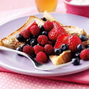 pain perdu aux fruits rouges
