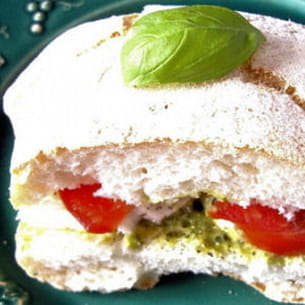 ciabatta tomates et mozzarella