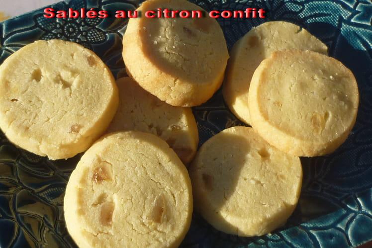 Sablés au citron confit et à la poudre d'amande