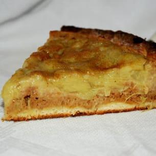 tarte briochée à la rhubarbe