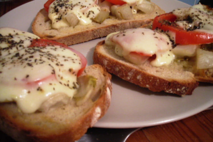Tartines d'endives-mozzarella express