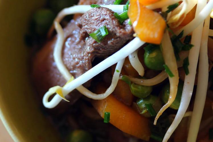 Wok de canard et ses légumes craquants