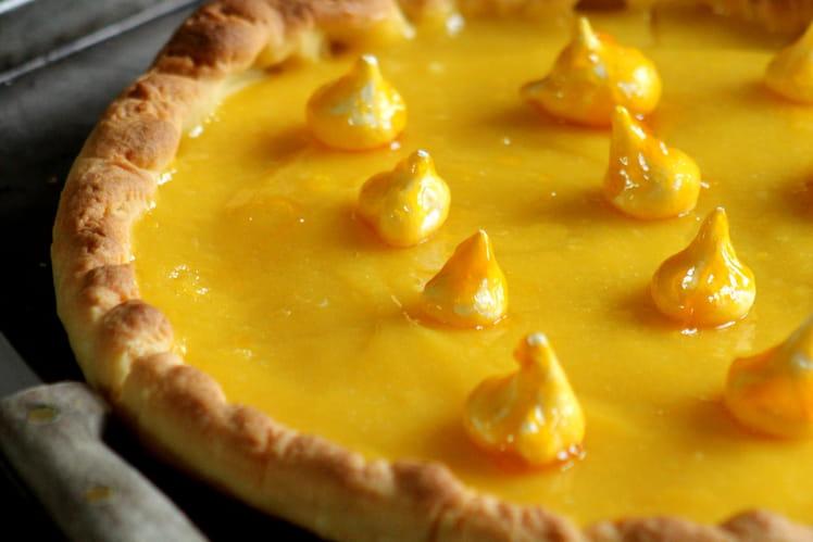 Tarte au citron, bouchées meringuées à la mangue