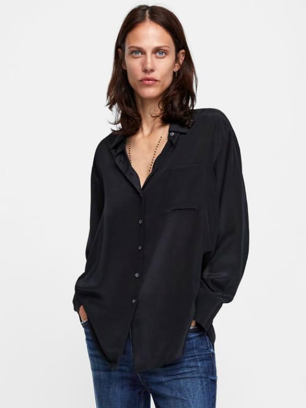 Chemise en soie de Zara