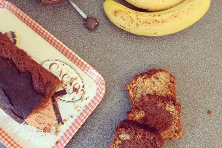 Marbré banana bread au Nutella