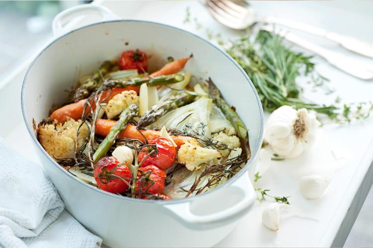 Légumes au four aux fines herbes et à la crème