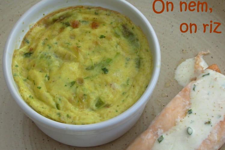 Flans d'asperges au curry