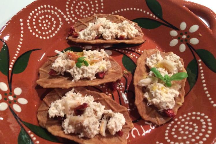 Tacos gaufrettes au crabe