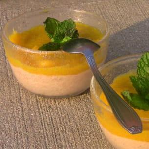 mousse derhubarbeet compote de mangue