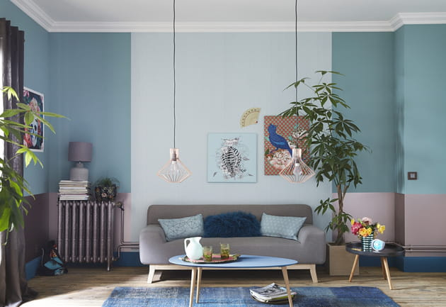 peinture m tal bleu p trole et vert m ditation de dulux. Black Bedroom Furniture Sets. Home Design Ideas