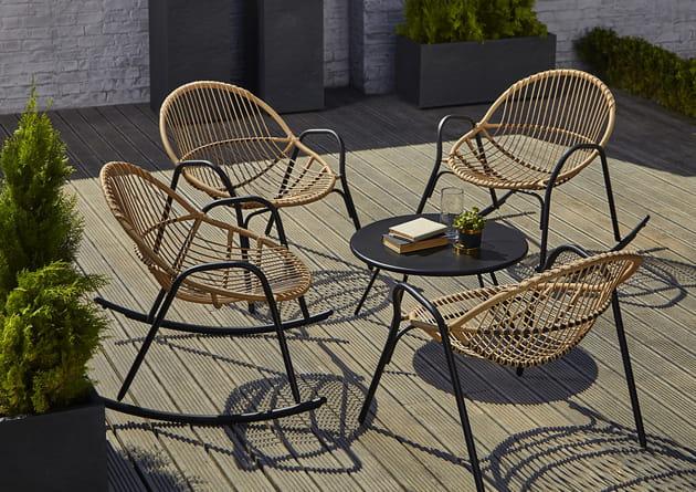 fauteuils de jardin cuba par castorama. Black Bedroom Furniture Sets. Home Design Ideas