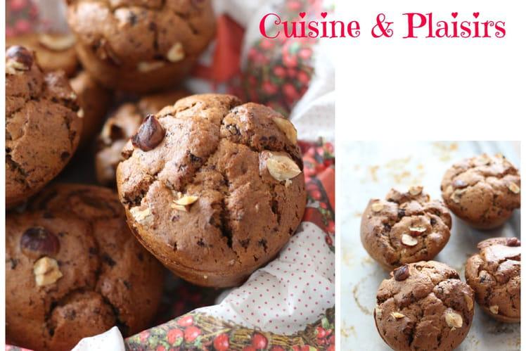 Muffins banane, noisettes et chocolat