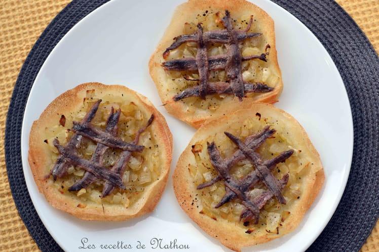 Tartelettes de bricks façon pissaladière