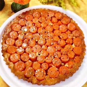 tatin de carottes au bleu d'auvergne