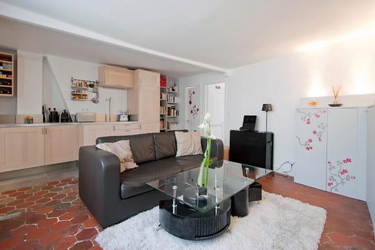 Appartement XVIIIe modernisé par MyHomeDesign : salon