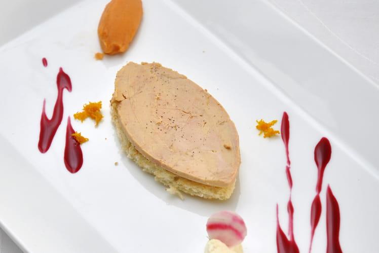 Tartine de foie gras façon calisson