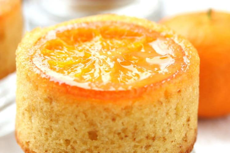 Mini-cake renversé aux mandarines caramélisées