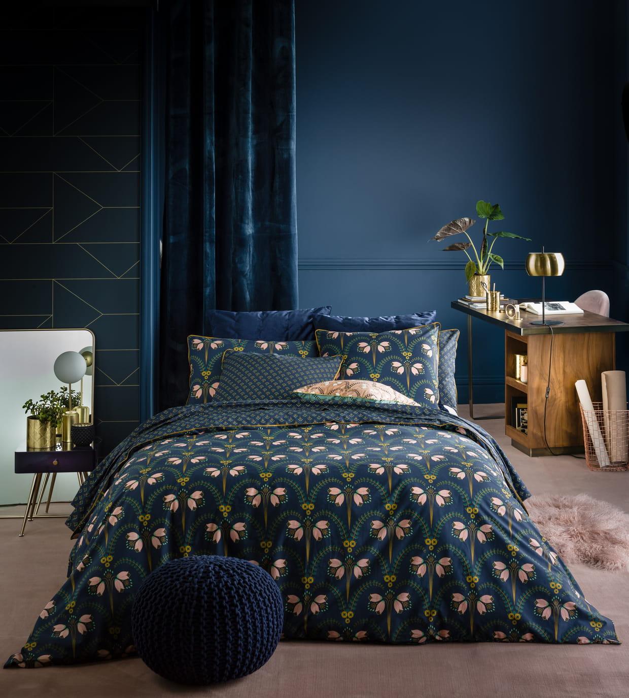 linge de lit belladone de la redoute int rieurs. Black Bedroom Furniture Sets. Home Design Ideas