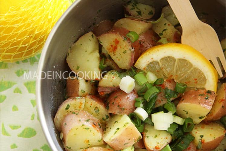 Recette De Salade De Pommes De Terre Citronnees La Recette Facile