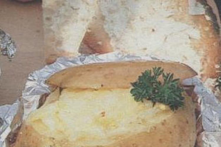 Pommes de terre farcies au jambon, Comté et Beaufort