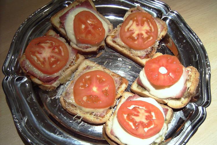 Tartines jambon-fromage