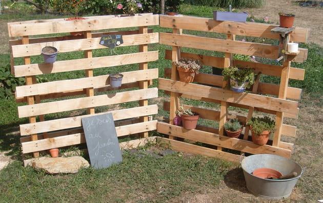 Porte-plantes ootdoor en palette