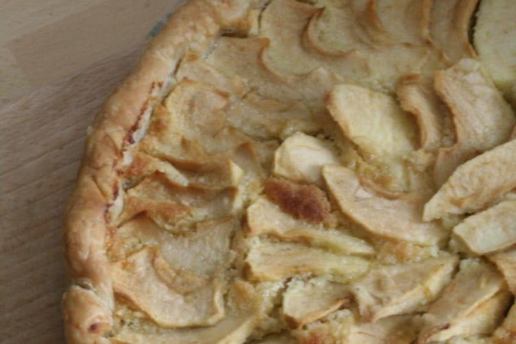 Tarte aux pommes et à la crème d'amande