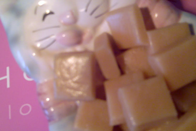 Bonbons de caramel au chocolat blanc