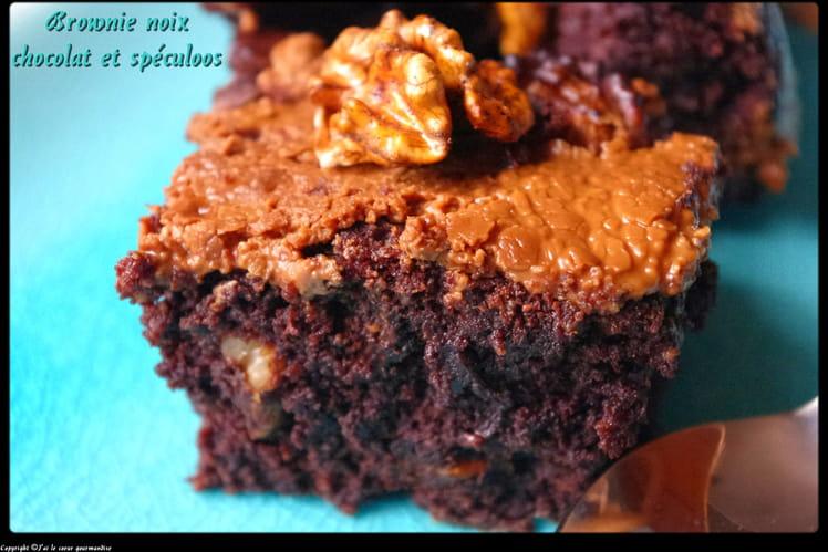Brownie chocolat, noix et spéculoos