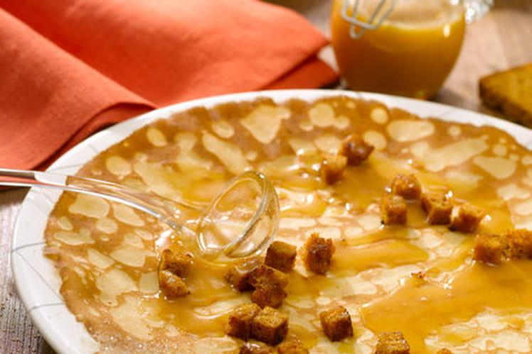 Crêpes caramel au beurre salé, pain d'épices