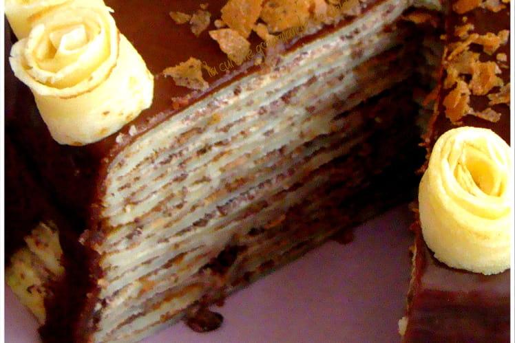 Gâteau de crêpes au Straciatella