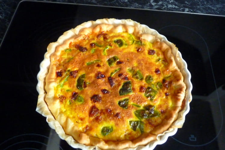 Tarte poivrons-chorizo