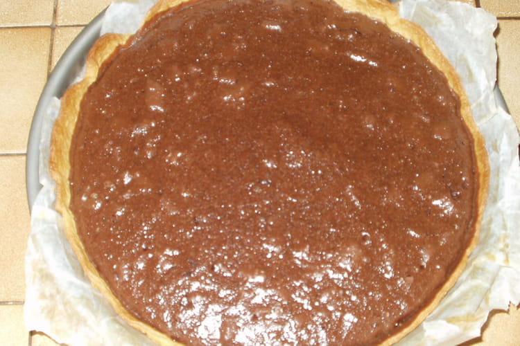 Tarte au chocolat et noix de coco