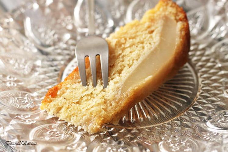 Gâteau renversé poire amande