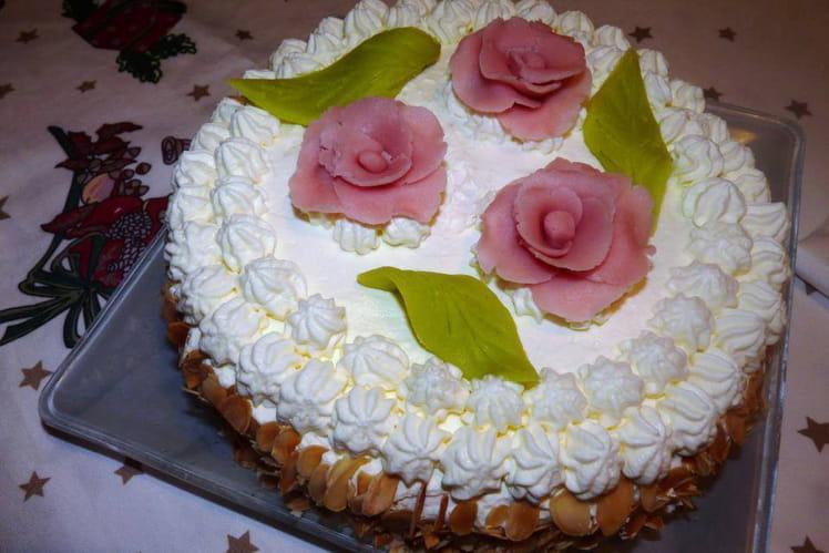 Gâteau poires chantilly