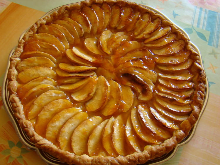 recette de tarte aux pommes caram lis es au miel l. Black Bedroom Furniture Sets. Home Design Ideas