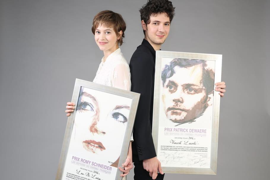 Lou de Laâge et Vincent Lacoste, prix Romy Schneider et Patrick Dewaere 2016